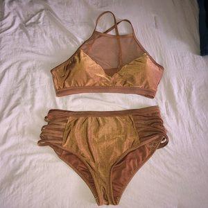 Plus Size Copper Bikini